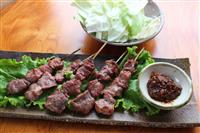 【料理と酒】埼玉県東松山のやきとり 豚のカシラを味噌だれとともに