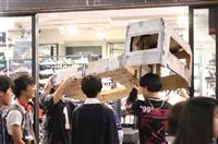 軽トラック横転事件連想 模型担いだ若者練り歩く 渋谷ハロウィン