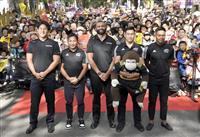 リーチ主将「応援に感謝」 東京・府中でラグビーW杯報告会