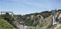地震教訓に崩落防止の設計 再建進む阿蘇大橋、来年度完成