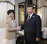 「秩序回復が最重要任務」 中国主席、香港長官と会談