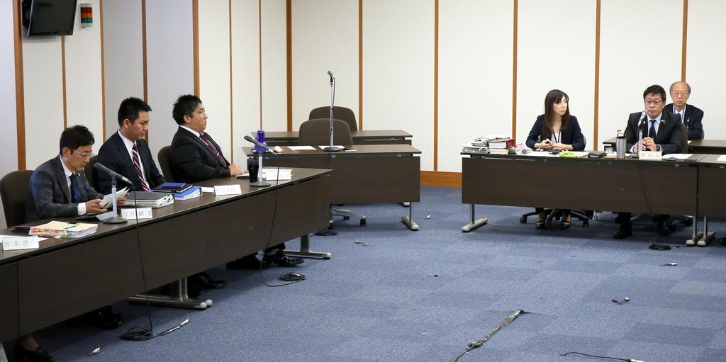 堺市議会百条委員会に竹山前市長は出頭せず、中止となった=5日午前、堺市役所(前川純一郎撮影)