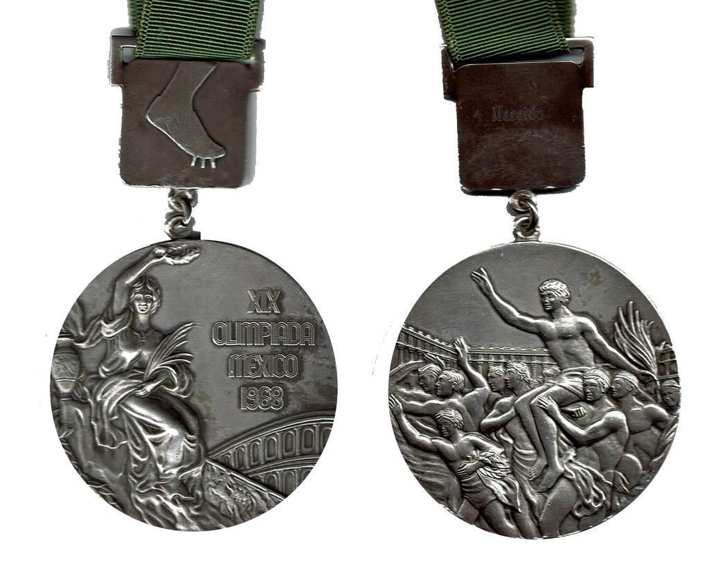 1968年のメキシコ五輪の銀メダル