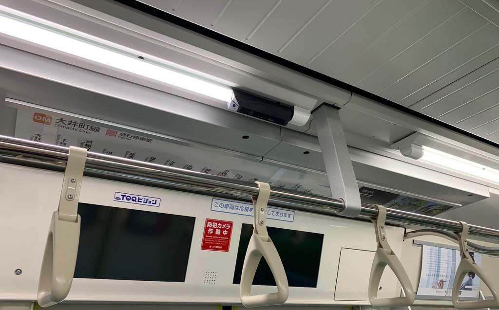 東急電鉄の全車両で導入される新しい防犯カメラ(東急提供)