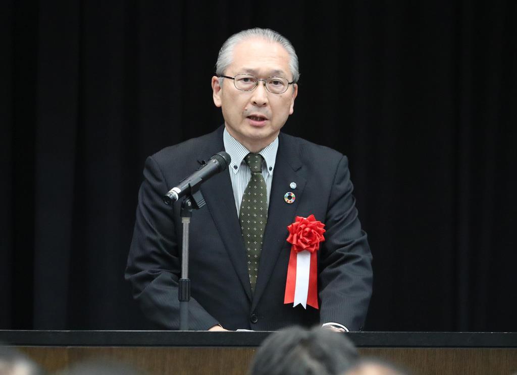 連合の神津里季生会長(春名中撮影)