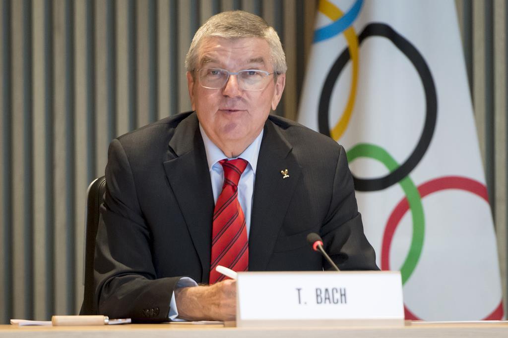 IOCのバッハ会長(AP)