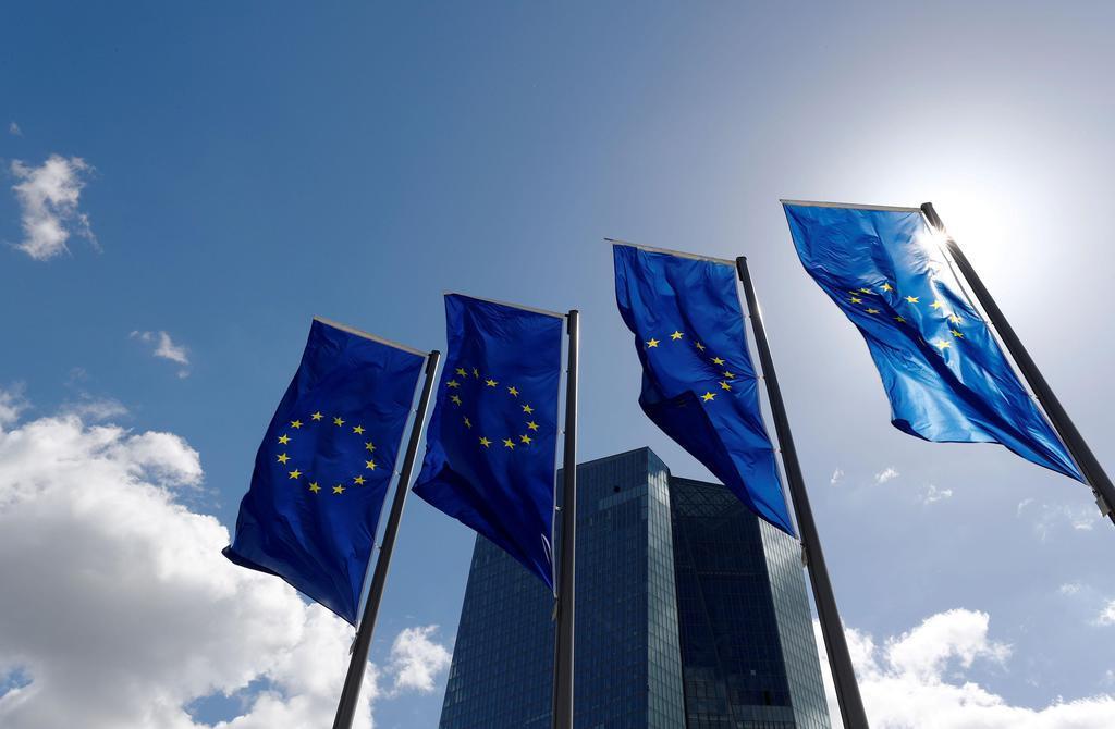 欧州中央銀行の本部=2018年4月、ドイツ・フランクフルト(ロイター)