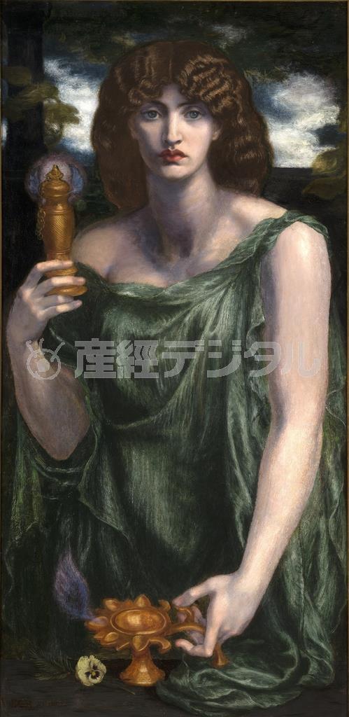 ダンテ・ゲイブリエル・ロセッティ《ムネーモシューネー(記憶の女神)》、1876-81年、油彩/カンヴァス、126.4×61cm、デラウェア美術館 (C) Delaware Art Museum, Samuel and Mary R. Bancroft Memorial, 1935.