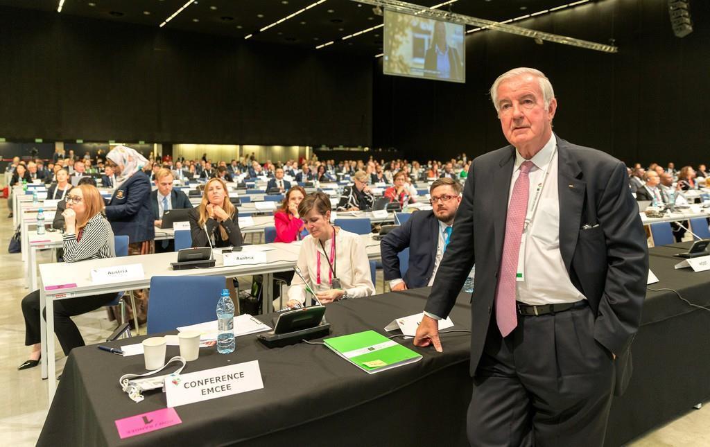 ポーランドで開催されている世界反ドーピング機関(WADA)の世界会議=6日(ロイター)