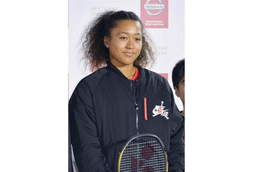 東京都内で行われたイベントに参加した女子テニスの大坂なおみ=7日