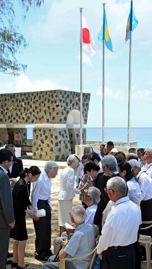 平成27年、上皇ご夫妻に同行し、ペリリュー島を訪れた