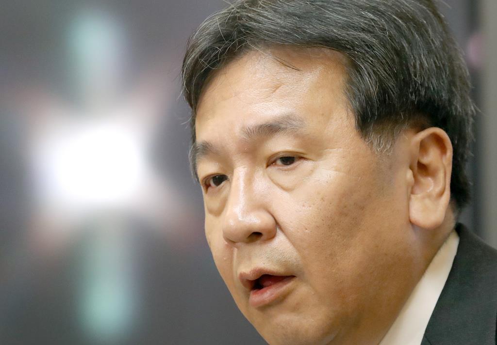 立憲民主党の枝野幸男代表(春名中撮影)