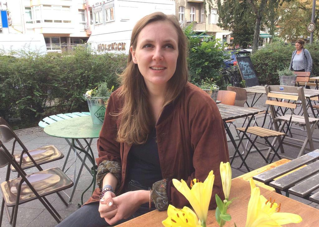 旧東独出身の記者のバレリー・シェニアンさん(29)