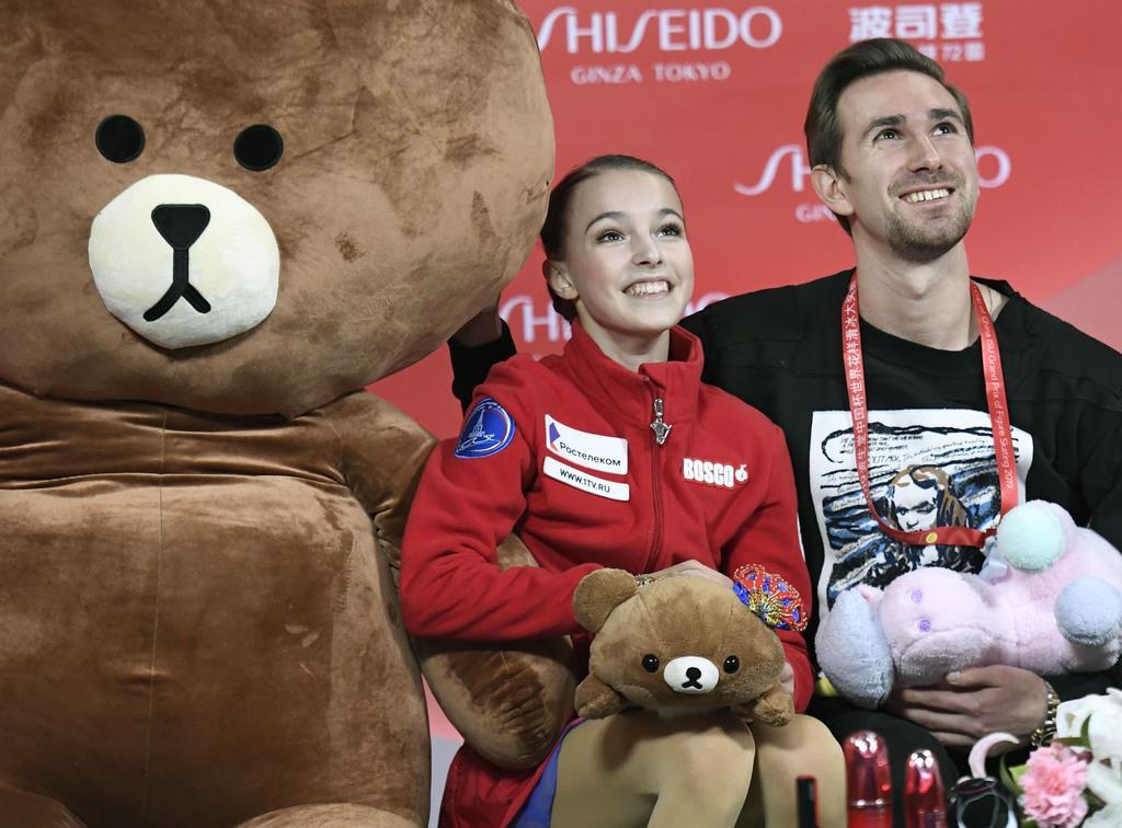 優勝し、GP2連勝を決めたロシアのアンナ・シェルバコワ=中国・重慶(共同)