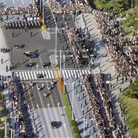 【動画あり】雲一つない晴天でのパレード 沿道に響く歓声 国民、令和の平安祈る