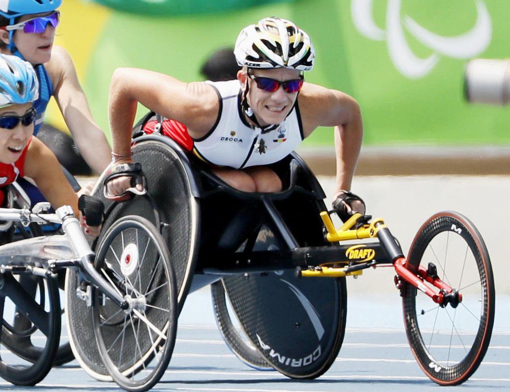 2016年9月、パラリンピック・リオデジャネイロ大会に出場したマリーケ・フェルフールトさん(共同)
