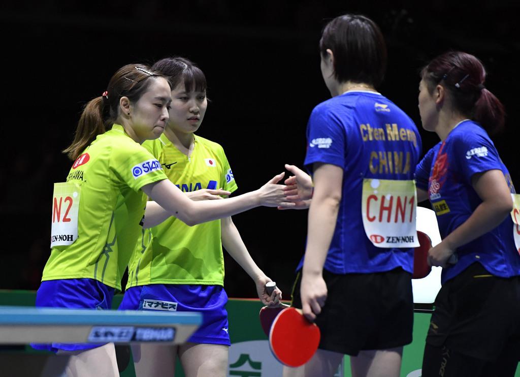 女子の日本は初優勝ならず 卓球W杯、男女とも中国V
