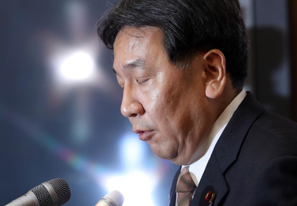 立憲民主党の枝野幸男代表は足元の個性派議員に手を焼いている?(春名中撮影)