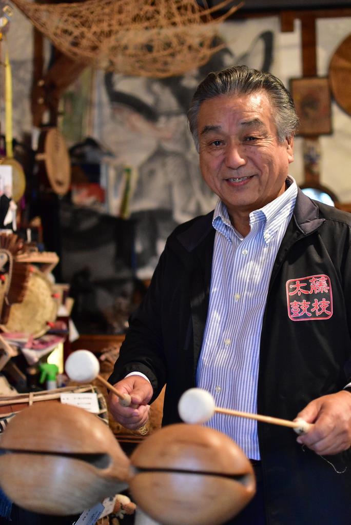 「藤枝太鼓」会長の寺田益男さん 「子供たちに太鼓の魅力を伝え…