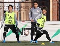 サッカー日本代表、キルギス戦に向け22人が参加 「10番」は中島