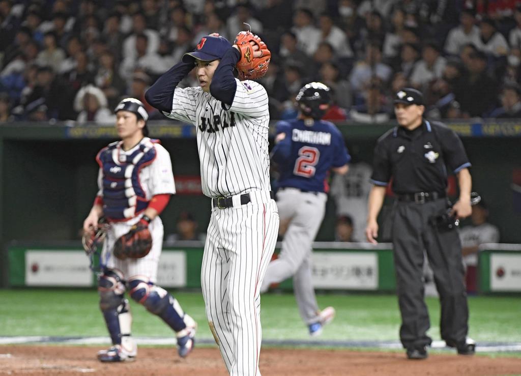 日本、米国に敗れる 野球プレミア12