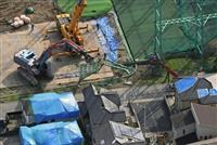 倒壊の鉄柱、撤去完了 千葉・市原のゴルフ練習場
