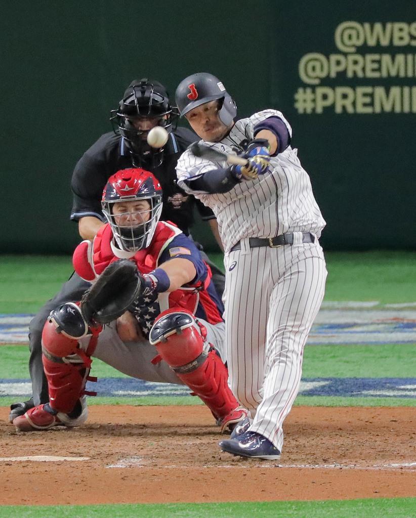 29歳誕生日の浅村、適時打3本 野球プレミア12