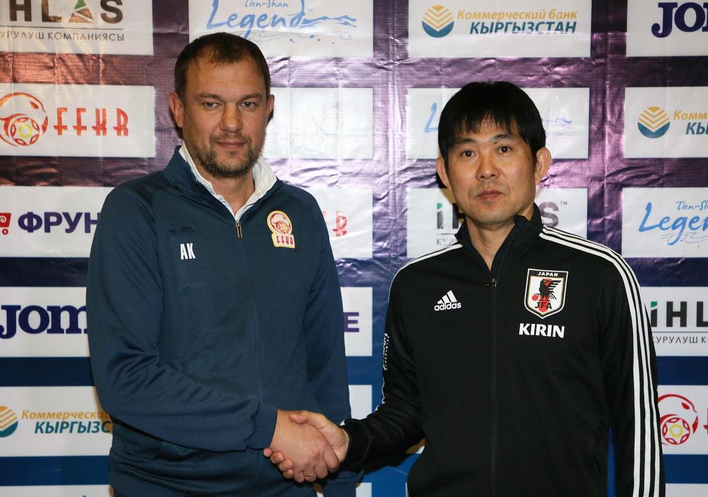 サッカー日本代表指揮官「強さ、規律がある」 対キルギス戦前、…