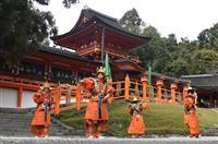 【動画】奈良の春日大社で舞楽「太平楽」奉納 大嘗祭に合わせ