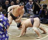 白鵬1敗守る、御嶽3敗目、全勝不在に 大相撲九州場所