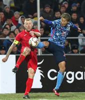 【サッカー日本代表・速報】(2)前半15分を終えて0-0、キルギスの攻勢にやや受け身