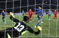 【サッカー日本代表・速報】(4)南野の4戦連続ゴールで先制、前半を終え日本1-0キルギ…