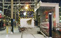 札幌のササラ電車、初出動 積雪7センチ、ブラシで飛ばす