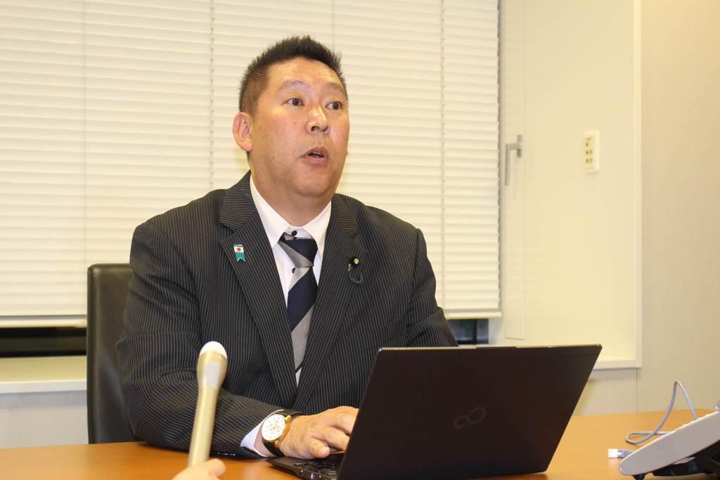 「NHKから国党を守る党」の立花孝志党首