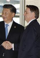 習近平氏、香港情勢は「一国二制度への挑戦」 BRICSで批判