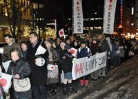 ご即位祝う提灯行列 札幌中心街練り歩く