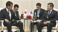 日韓防衛相が会談、軍事協定で協議 河野氏は再考要請