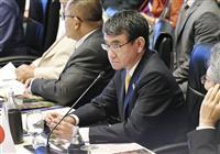 河野氏、中国念頭に「威圧に強く反対」 ASEAN拡大国防相会議で