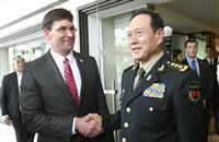 米中国防相会談 中国「力の誇示やめよ」