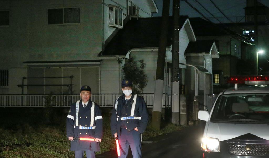 保護された女児が一緒にいたとみられる男の自宅=23日午後、栃木県小山市(萩原悠久人撮影)
