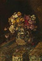 【ゴッホ展この1点】(4)アドルフ・モンティセリ「陶器壺の花」1875-78年頃 色彩…