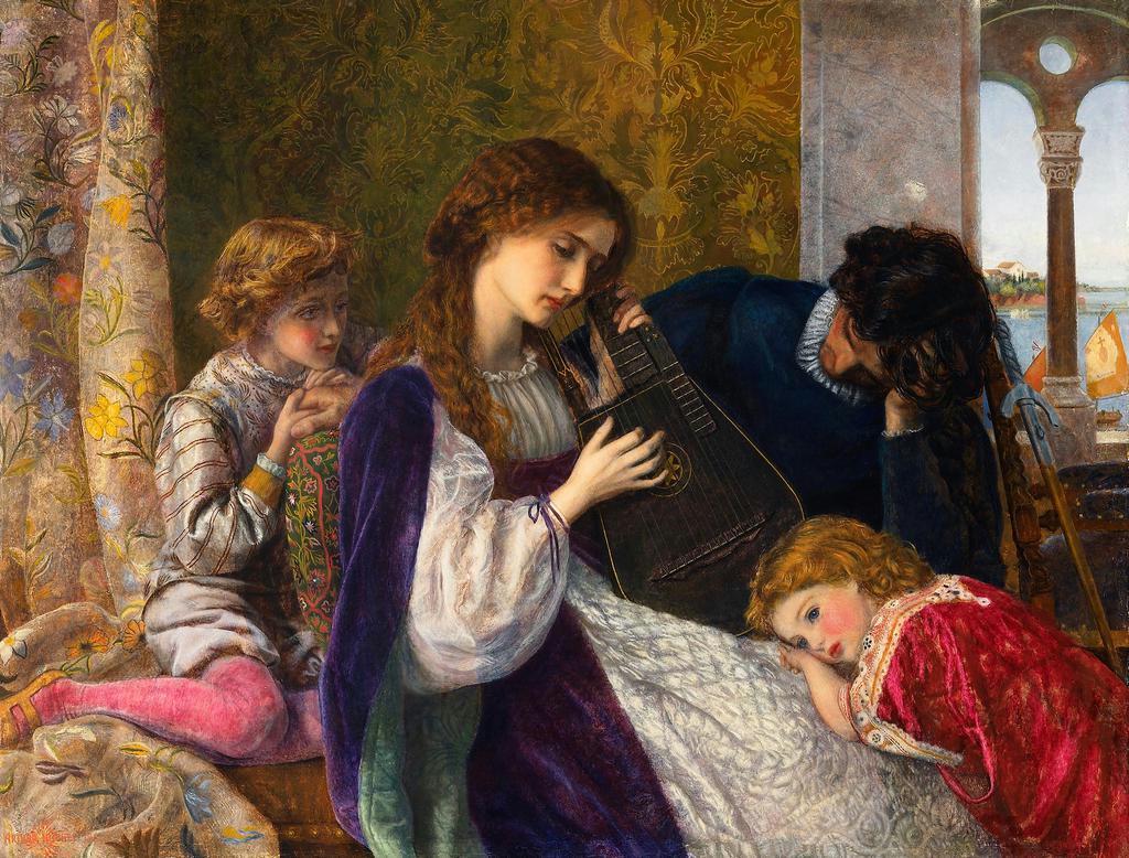 アーサー・ヒューズ 「音楽会」1861-64年(c)National Museums Liverpool,Lady Lever Art Gallery,Port Sunlight
