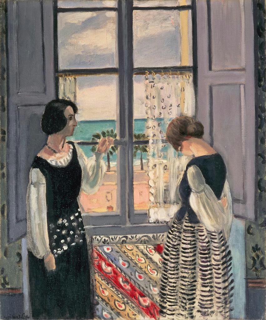 アンリ・マチス「待つ」1921ー22年 油彩 愛知県美術館