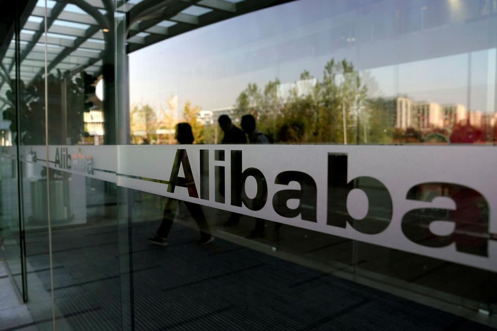 アリババグループのロゴ=11日、中国杭州(ロイター)