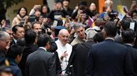 「日本の人々に感謝」ローマ教皇、帰国へ