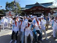 体ぶつけ「チョーサジャ!」 兵庫・厳島神社で御神幸
