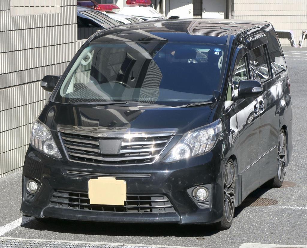 詐欺未遂容疑で逮捕された菅野裕希容疑者らが犯行に使った車=29日、警視庁戸塚署