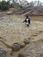国内最大の円墳から銅鏡の破片 発掘体験中に発見