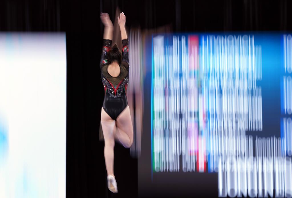 【第34回世界トランポリン】女子予選=28日、有明体操競技場(川口良介撮影)