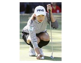 渋野、悔しい連続ボギーも逆転V射程 女子ゴルフ第3日